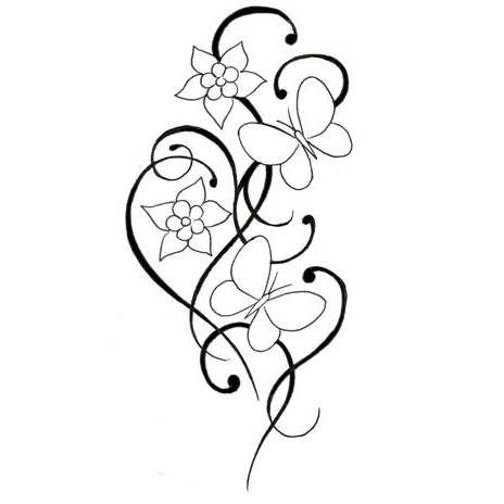 Three simple flowers clipart tatto clip black and white stock Pictures Of Flower Tattoo Designs | Free download best ... clip black and white stock