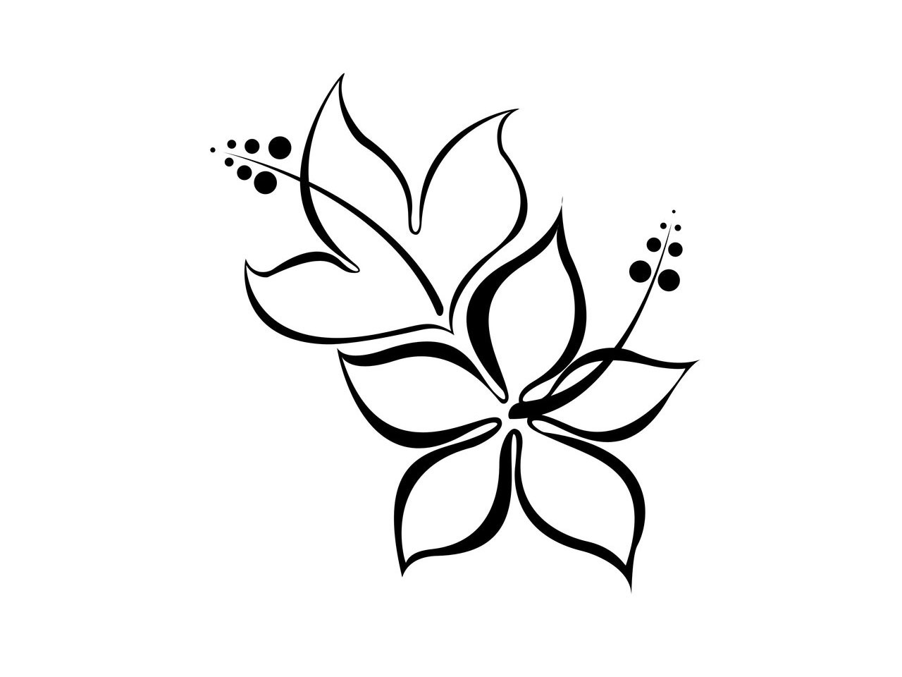 Three simple flowers clipart tatto picture free stock Free Free Flower Tattoo Designs, Download Free Clip Art ... picture free stock