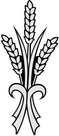Three sprigs of whaeta clipart vector black and white stock 3719 vector black and white stock