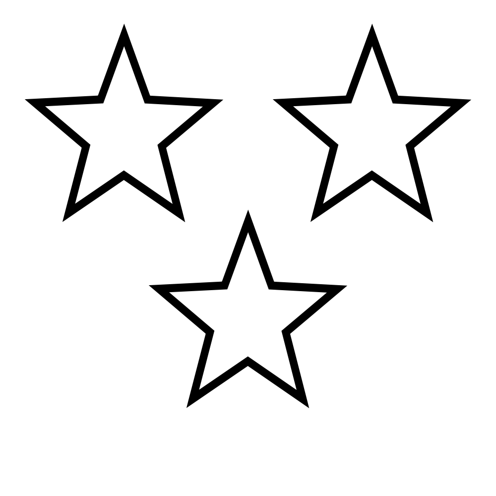 Three star clipart clip transparent download File:White Stars 3.svg - Wikimedia Commons clip transparent download