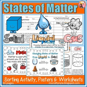 Three states of matter clipart black and white stock States of Matter activities, worksheets, definition cards and posters black and white stock