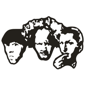 Three stooges clipart banner freeuse Three Stooges Decal Sticker - Clip Art Library banner freeuse