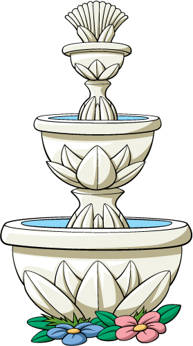 Three tiered fountain clipart image library library Three Tier Fountain image library library