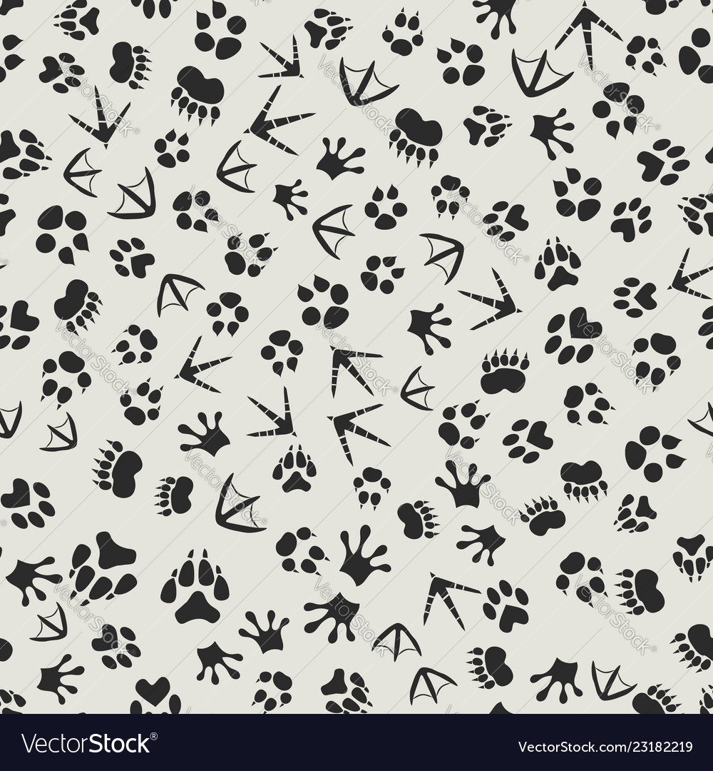 Wildlife tracks clipart graphic royalty free library Animal tracks black and white background with graphic royalty free library