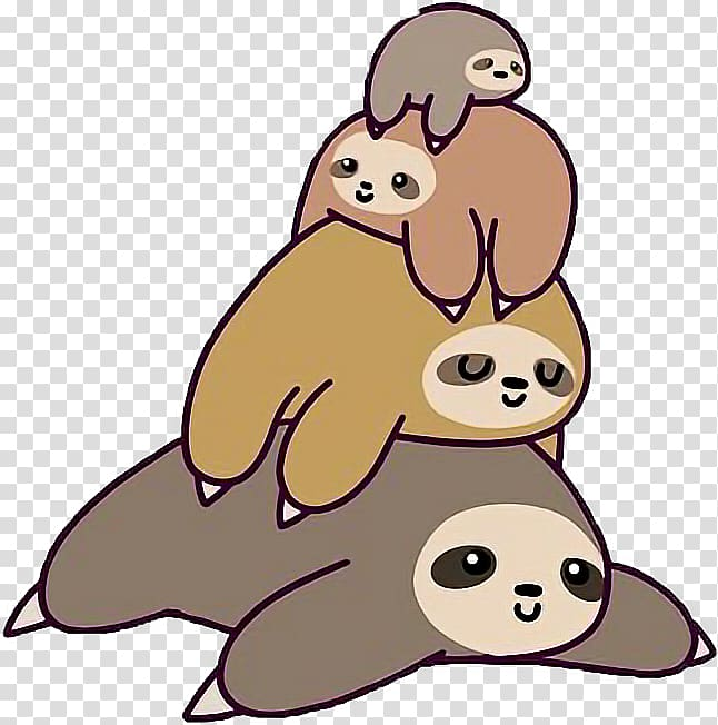 Three toed sloth clipart kids image transparent download Three-toed sloth Sticker T-shirt Drawing, T-shirt ... image transparent download
