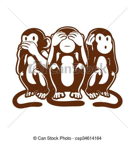 Three wise monkeys clipart banner freeuse stock Three wise monkeys clipart 2 » Clipart Portal banner freeuse stock