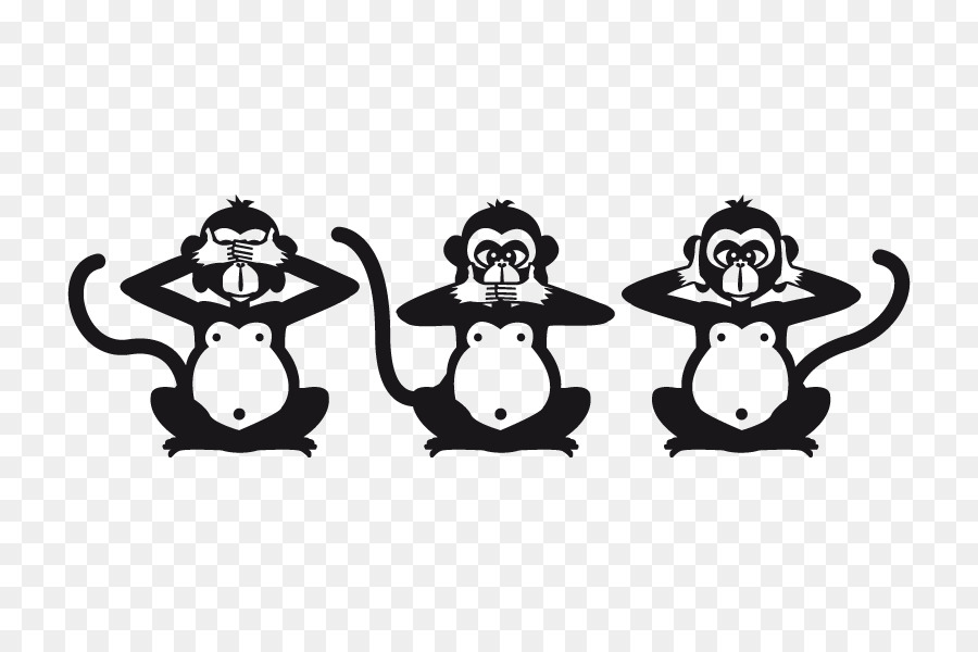 Wise monkey clipart graphic library download Person Logo png download - 800*600 - Free Transparent Three ... graphic library download