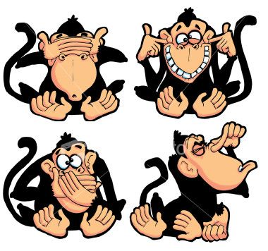 Wise monkey clipart image black and white stock Three wise monkeys Pictures, Three wise monkeys Image ... image black and white stock