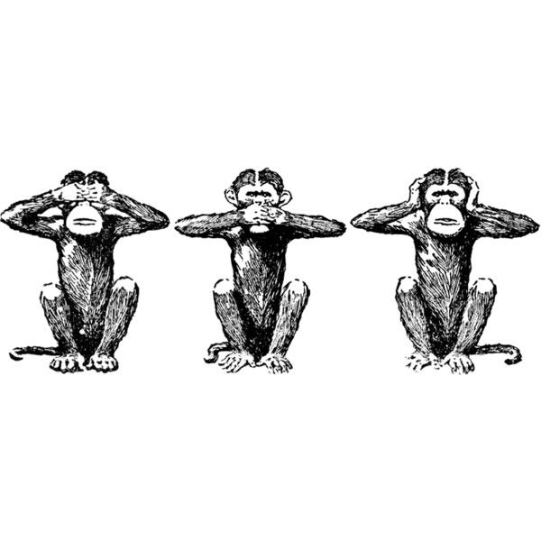 Three wise monkeys clipart picture Three Wise Monkeys - Clip Art Library picture
