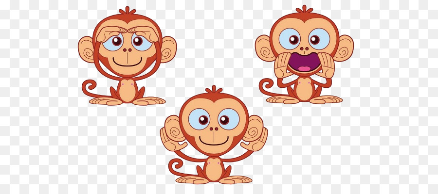 Three wise monkeys clipart svg library library Monkey Cartoon clipart - Monkey, Cartoon, Product ... svg library library