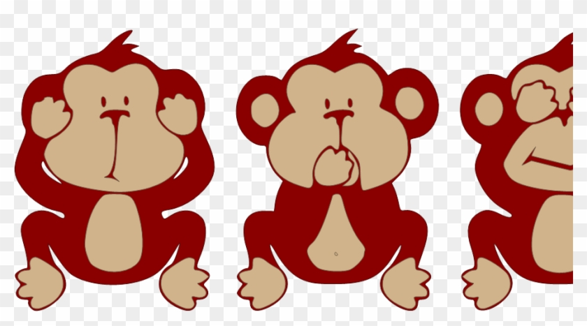 Three wise monkeys clipart jpg library download Reindeer Clipart Evil - Cute Three Wise Monkeys, HD Png ... jpg library download