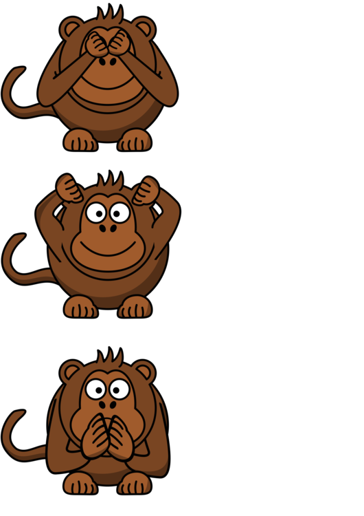 Three monkeys no hear no see no speack clipart picture freeuse download Human Behavior,Head,Animal Figure Vector Clipart - Free to ... picture freeuse download