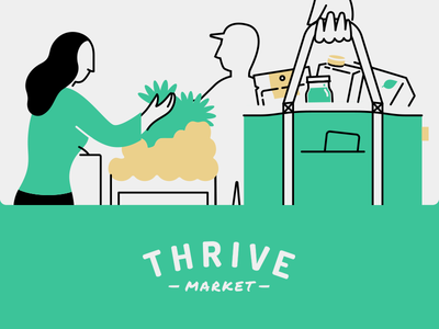 Thrive market logo clipart banner freeuse download Patrick Mahoney / Projects / Thrive Market Illustrations ... banner freeuse download