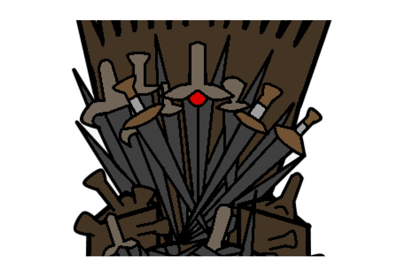 Thrones clipart clipart black and white download Game Of Thrones Clipart Iron Throne Illustration Free Png ... clipart black and white download