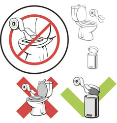 Throw away paper towel clipart clip art free download No Throw in Toilet Vector Images (98) clip art free download