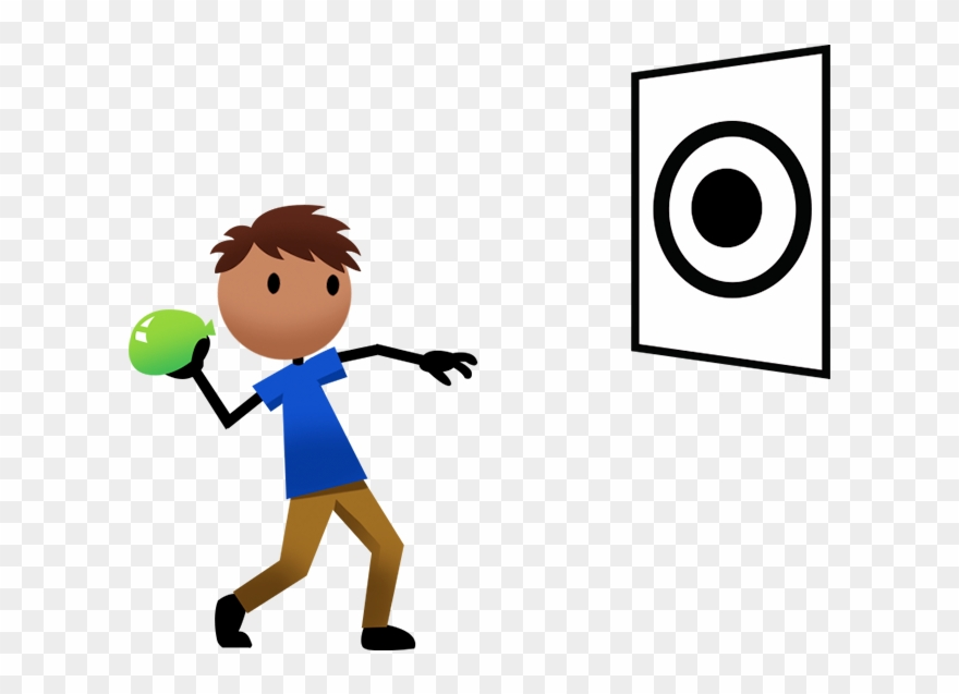 Throwba clipart picture transparent Game Clipart Throw Ball - Throwing A Ball At A Target - Png ... picture transparent