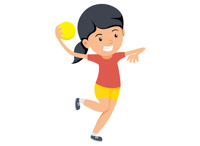 Throwba clipart vector free library Girl with handball preparing to throw ball clipart » Clipart ... vector free library