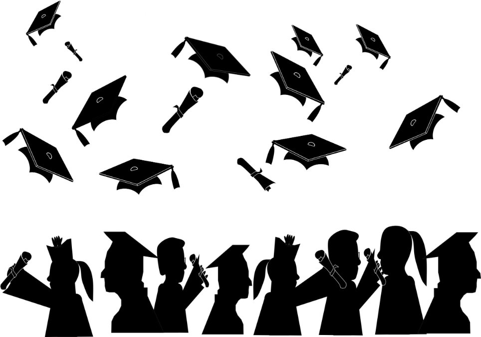 Throwing caps silluete cliparts picture royalty free download Free Graduate Silhouette Clip Art, Download Free Clip Art ... picture royalty free download