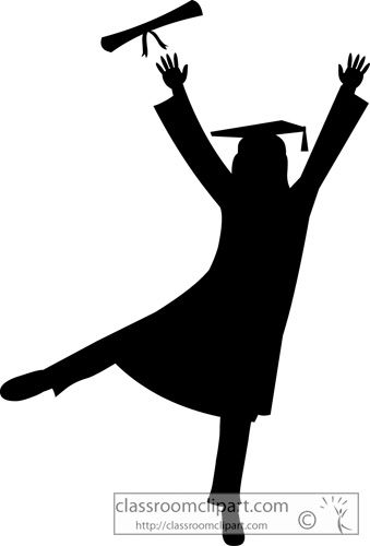 Throwing caps silluete cliparts picture free stock Graduation Graduate Silhouette Cap Gown Classroom Clipart ... picture free stock