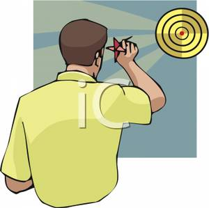 Throwing dart clipart image free stock Royalty Free Clipart Image: A Man Throwing a Dart At a Dartboard image free stock