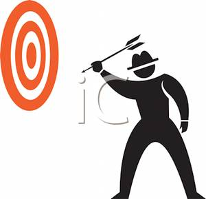 Throwing dart clipart svg free Silhouette of a Man Throwing Darts Clip Art Image svg free