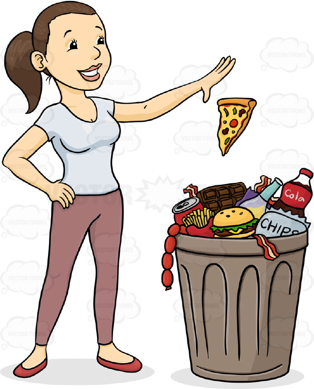 Throwing food clipart