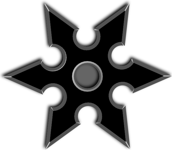 Throwing star clipart png library library Black Throwing Star Clip Art at Clker.com - vector clip art online ... png library library