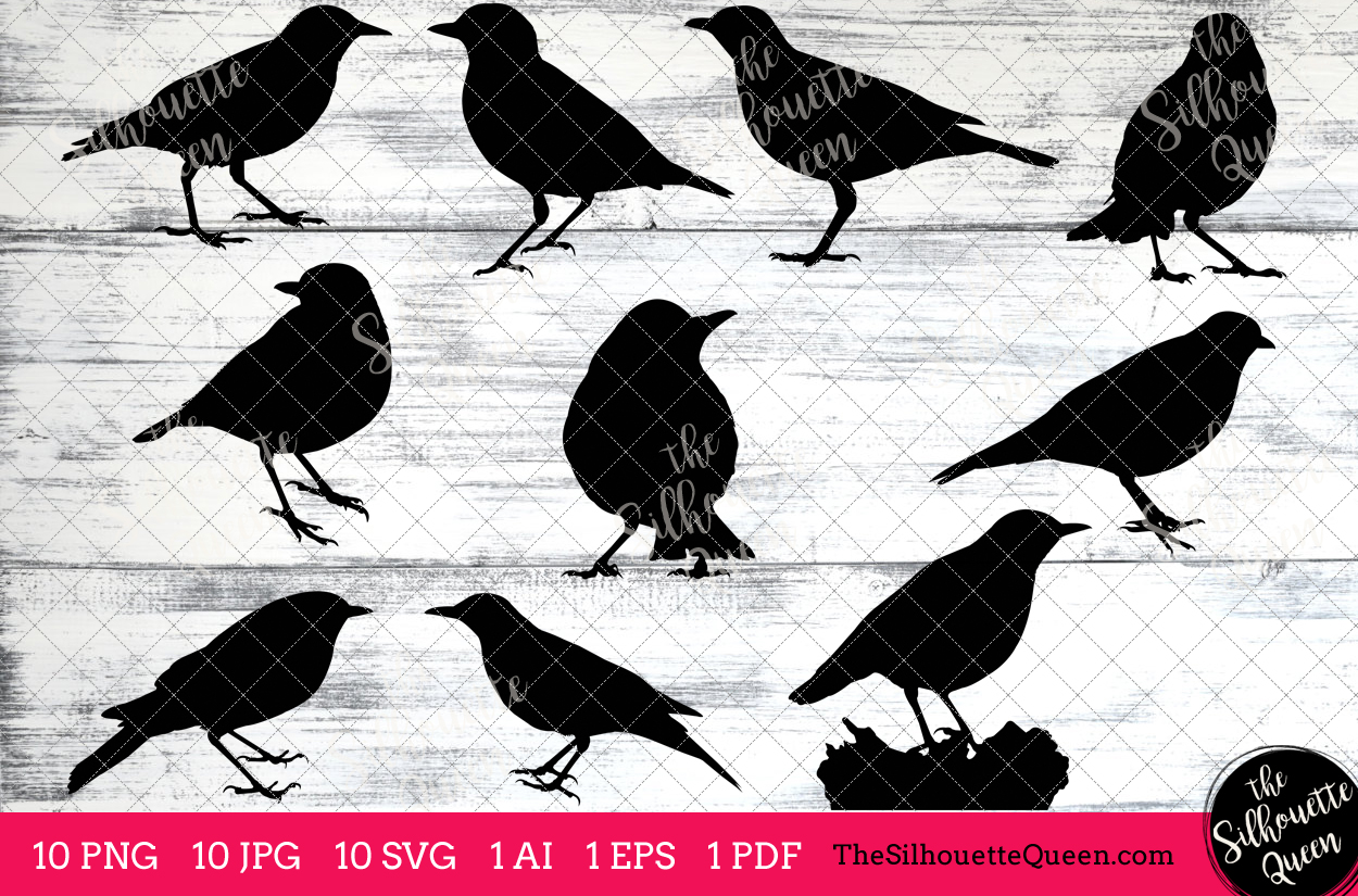 Thrush clipart png black and white library Thrush Silhouette Clipart Clip Art (AI, EPS, SVGs, JPGs, PNGs, PDF) ,  Thrush Clip Art Clipart Vectors - Commercial and Personal Use png black and white library