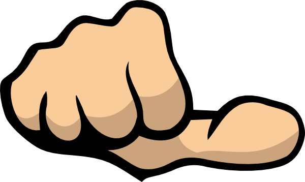 Thumb pointing at self clipart banner freeuse download Thumb Clip Art at Clker.com - vector clip art online ... banner freeuse download