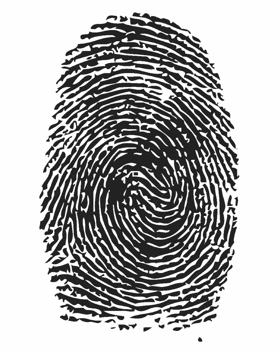 Thumb print with dna clipart png Free Fingerprint Clipart Black And White, Download Free Clip ... png