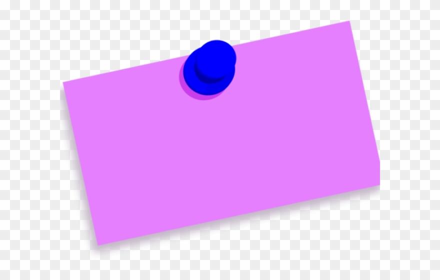 Thumb Tack Clipart Pin Drop - Thumbtack Note Blank - Png ... vector freeuse library