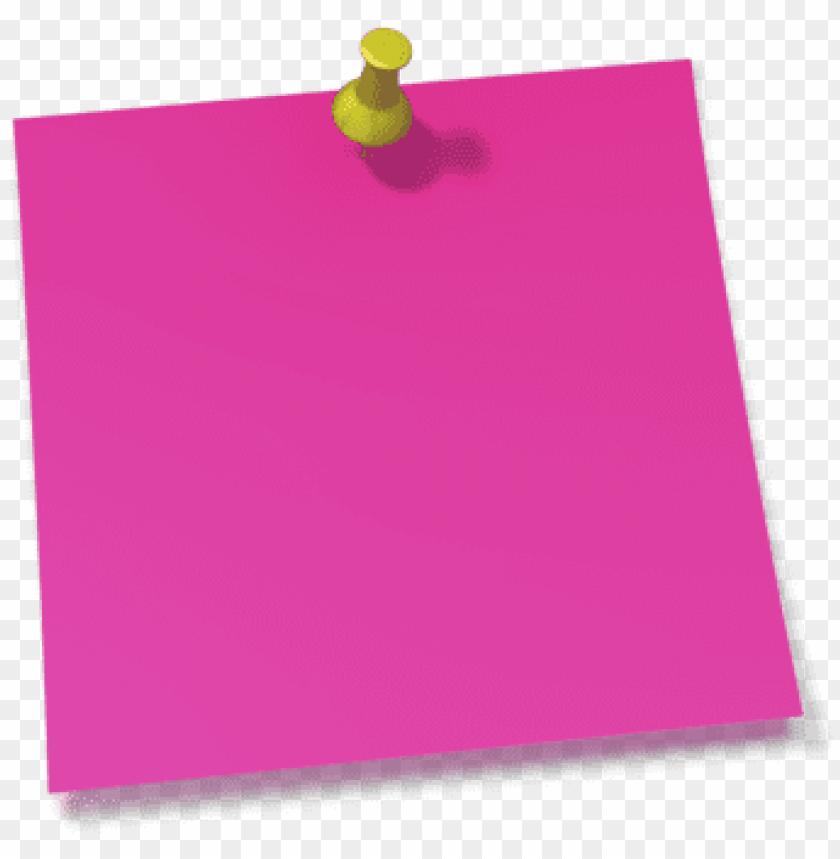 thumb tack clipart note pin - post it notes pink PNG image ... banner royalty free stock