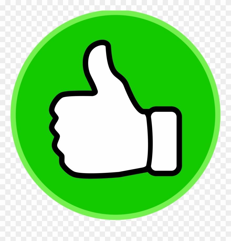 Thumb up clipart clipart library download Fingers Clipart Voting - Green Thumbs Up Sign - Png Download ... clipart library download