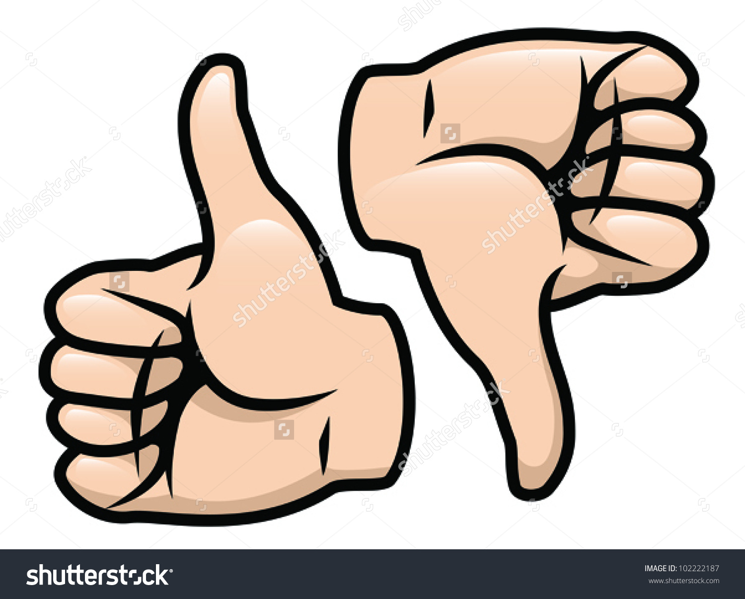 Thumbs down outline clipart image library Cartoon Vector Drawing Thumbs Thumbs Down Stock Vector 102222187 ... image library