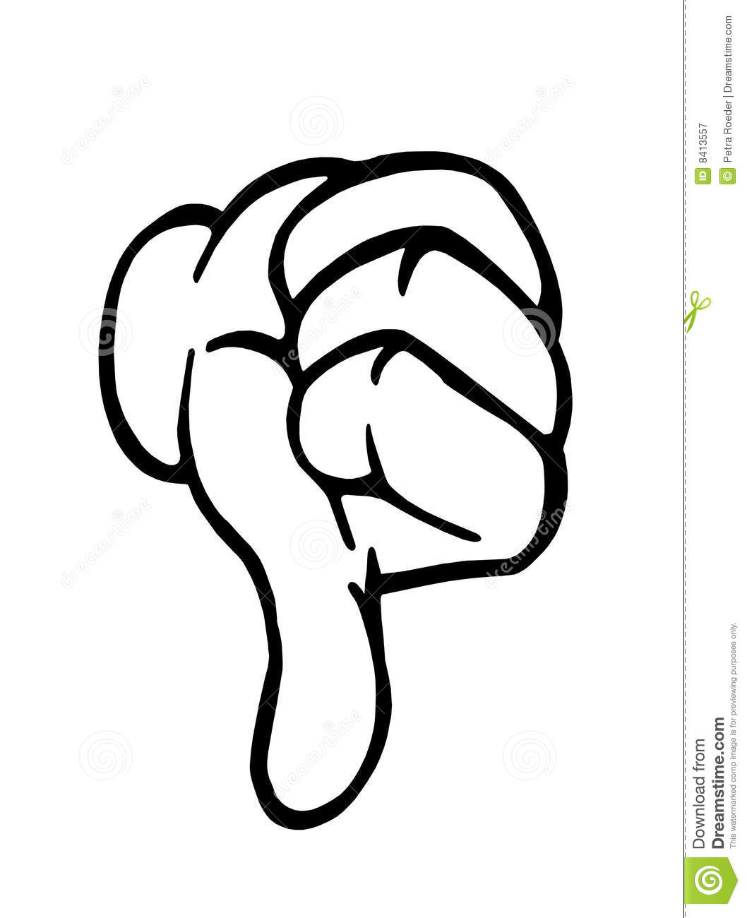 Thumbs down outline clipart image free stock Thumbs Down Royalty Free Stock Photography - Image: 8413557 image free stock