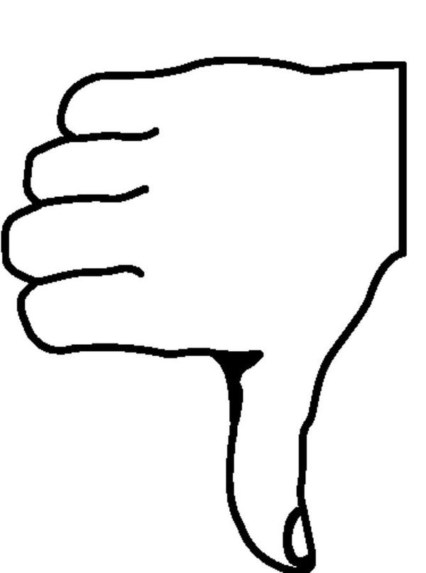 Thumbs down outline clipart clipart transparent Thumbs down clipart black and white - ClipartFest clipart transparent