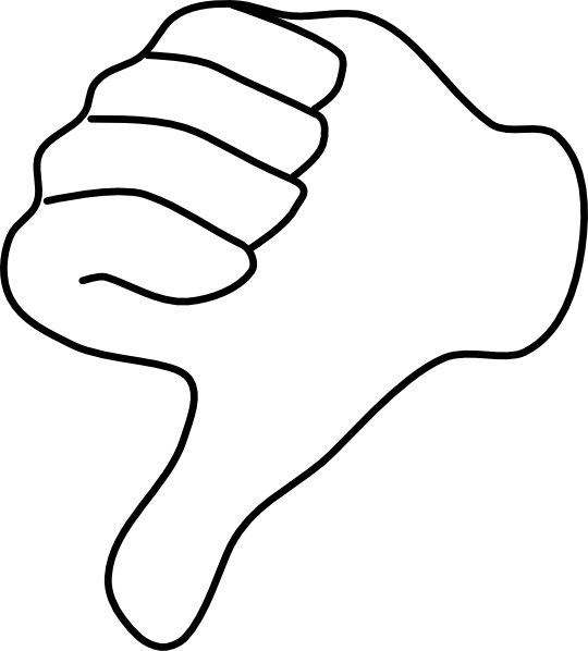Thumbs down outline clipart picture royalty free stock Thumbs Down Clip Art at Clker.com - vector clip art online ... picture royalty free stock