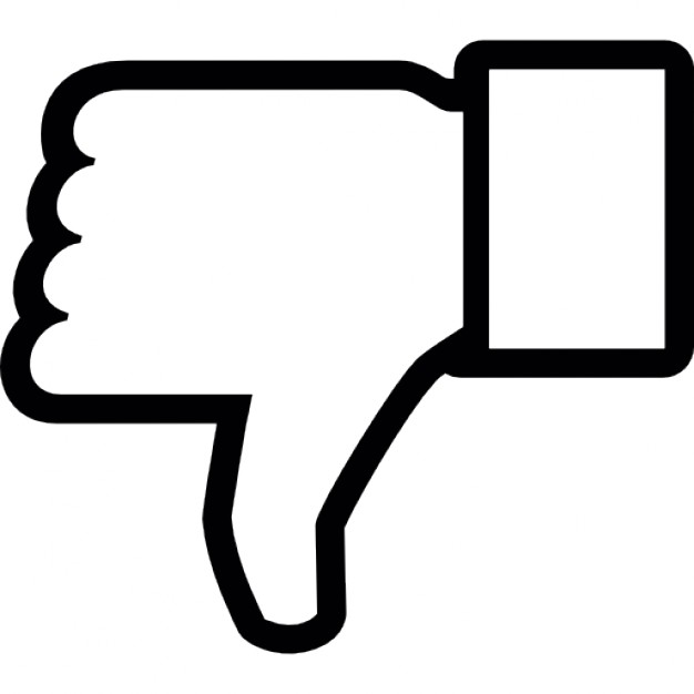 Thumbs down outline clipart royalty free stock Dislike on Facebook, thumb down symbol outline Icons | Free Download royalty free stock