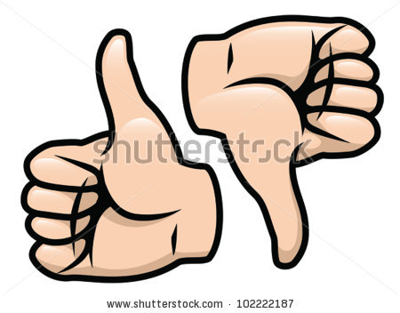 Thumbs up and down clipart royalty free library Cartoon Vector Drawing Thumbs Thumbs Down Stock Vector 102222187 ... royalty free library