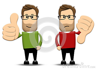 Thumbs up and down clipart clipart transparent download Thumbs Up, Thumbs Down Stock Images - Image: 28722074 clipart transparent download