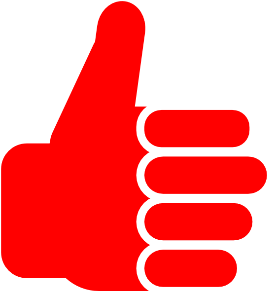 Thumbs up thumbs down clipart svg freeuse download Red Thumbsup Clip Art at Clker.com - vector clip art online, royalty ... svg freeuse download