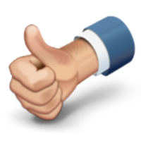 Thumbs up animated clipart