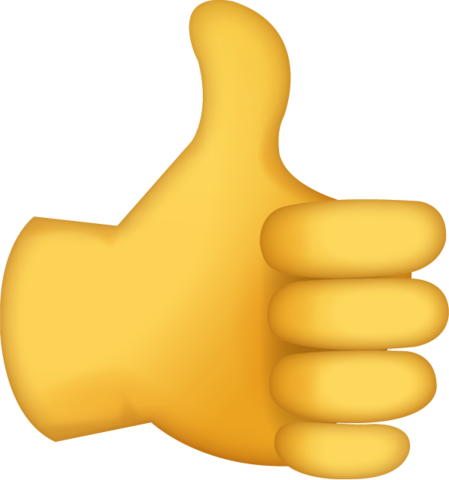 Thumbs up clipart emoji banner stock Thumbs Up Emoji [Free Download IOS Emojis] banner stock