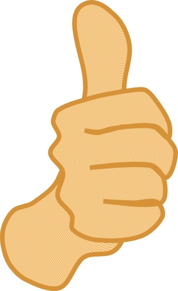 Thumbs up clipart free jpg free Thumbs Up clip art Free vector in Open office drawing svg ( .svg ... jpg free