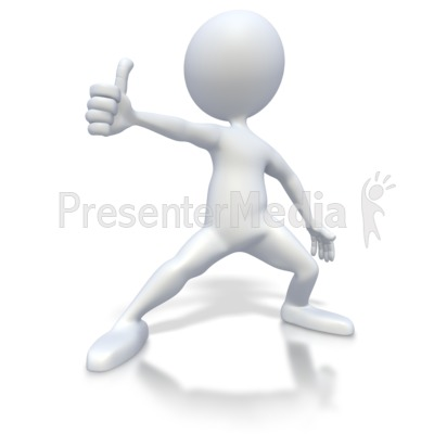 Thumbs up clipart microsoft clipart black and white Stick Figure Excited Thumbs Up - 3D Figures - Great Clipart for ... clipart black and white