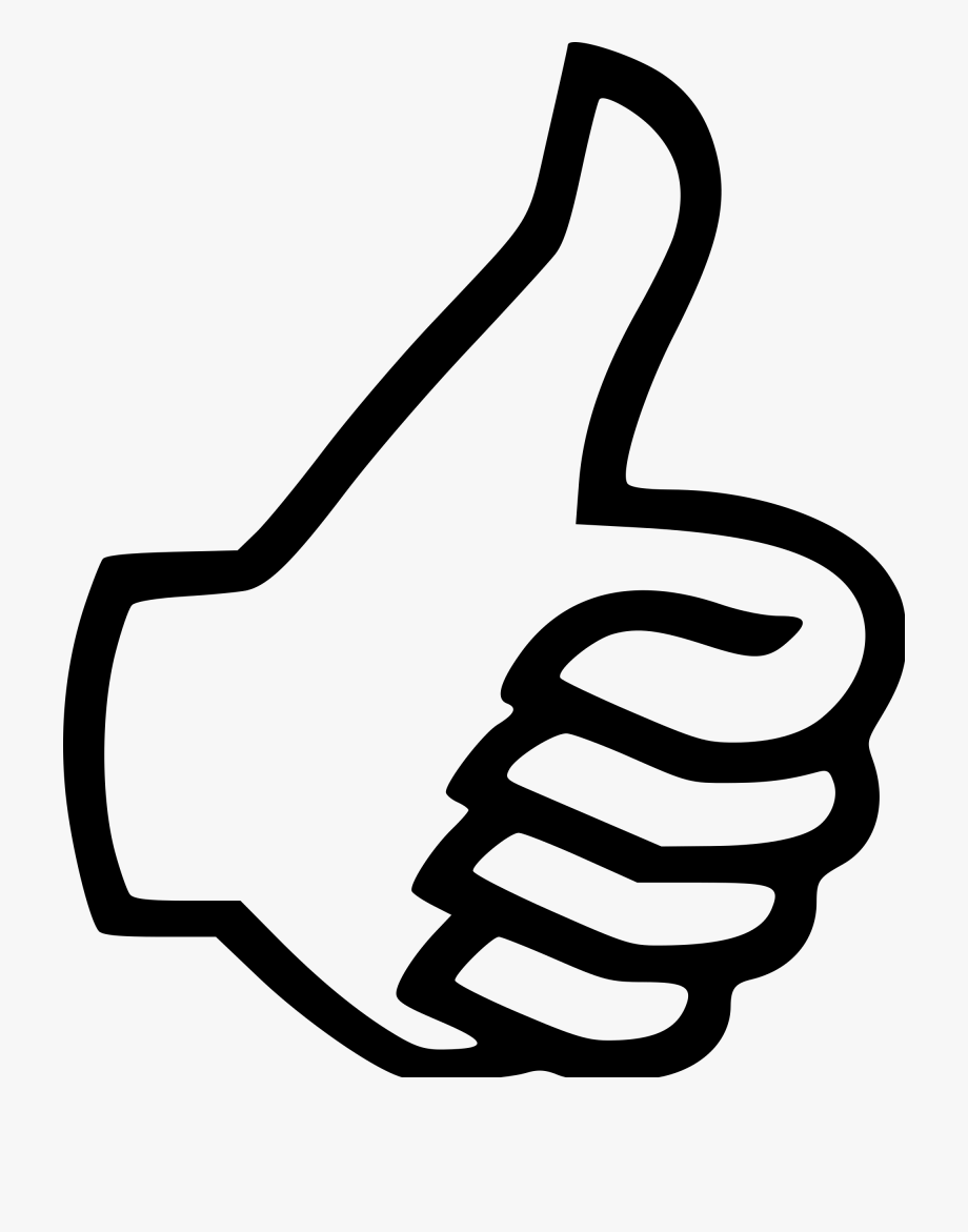 Thumbs up transparent clipart