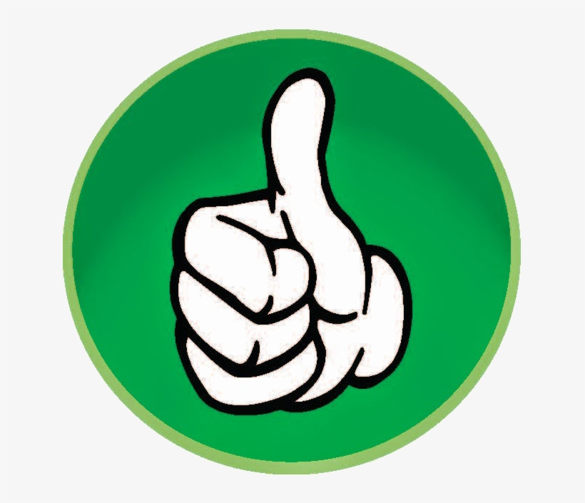 Thumbs up clipart transparent background graphic free download Thumb Up - Green Thumbs Up Transparent Background - Free ... graphic free download