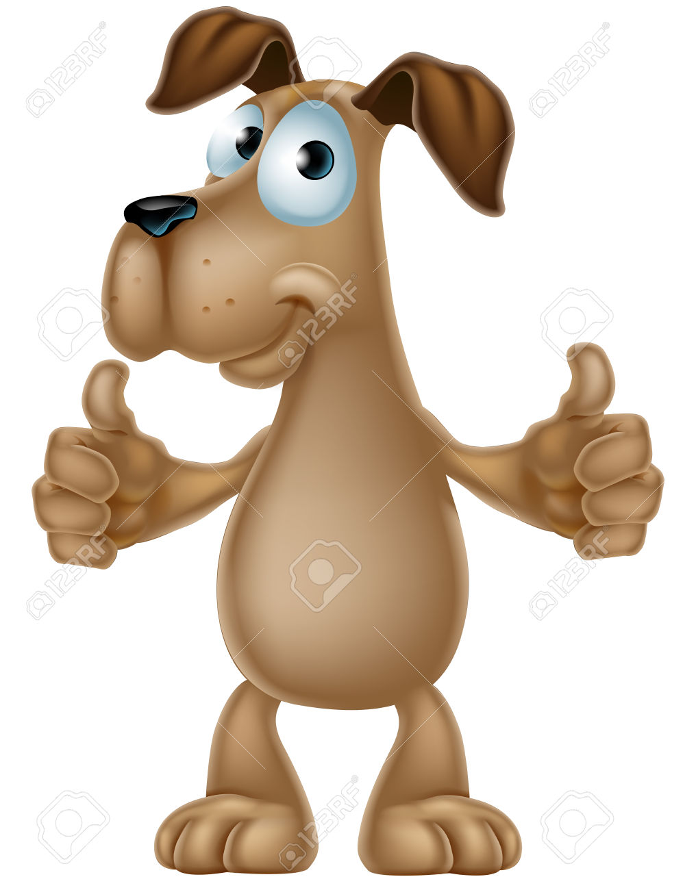 Thumbs up dog clipart jpg library library An Illustration Of A Cute Cartoon Dog Mascot Character Giving ... jpg library library