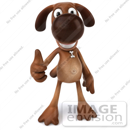 Thumbs up dog clipart png transparent library Royalty-Free (RF) Clipart Illustration of a 3d Brown Dog Mascot ... png transparent library