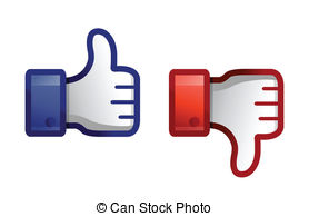 Thumbs up down clipart